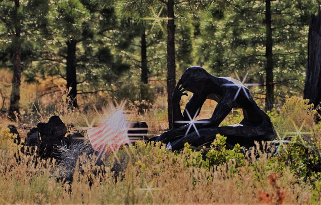 Living Memorial Sculpture Garden - created by Vietnam veteran and sculptural artist Denis Smith - photo by Bruce Witzel 2012-10-18