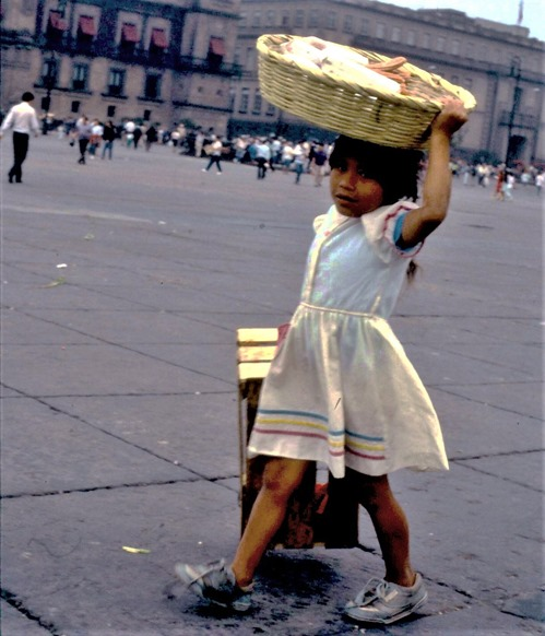 Girl in Mexico City 1991-10-19  bruce witzel photo