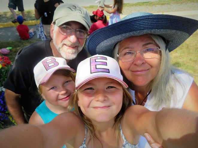 Our grandaughters group selfie July 1, 2019 - Emma Keely photo, edited by Bruce (2)
