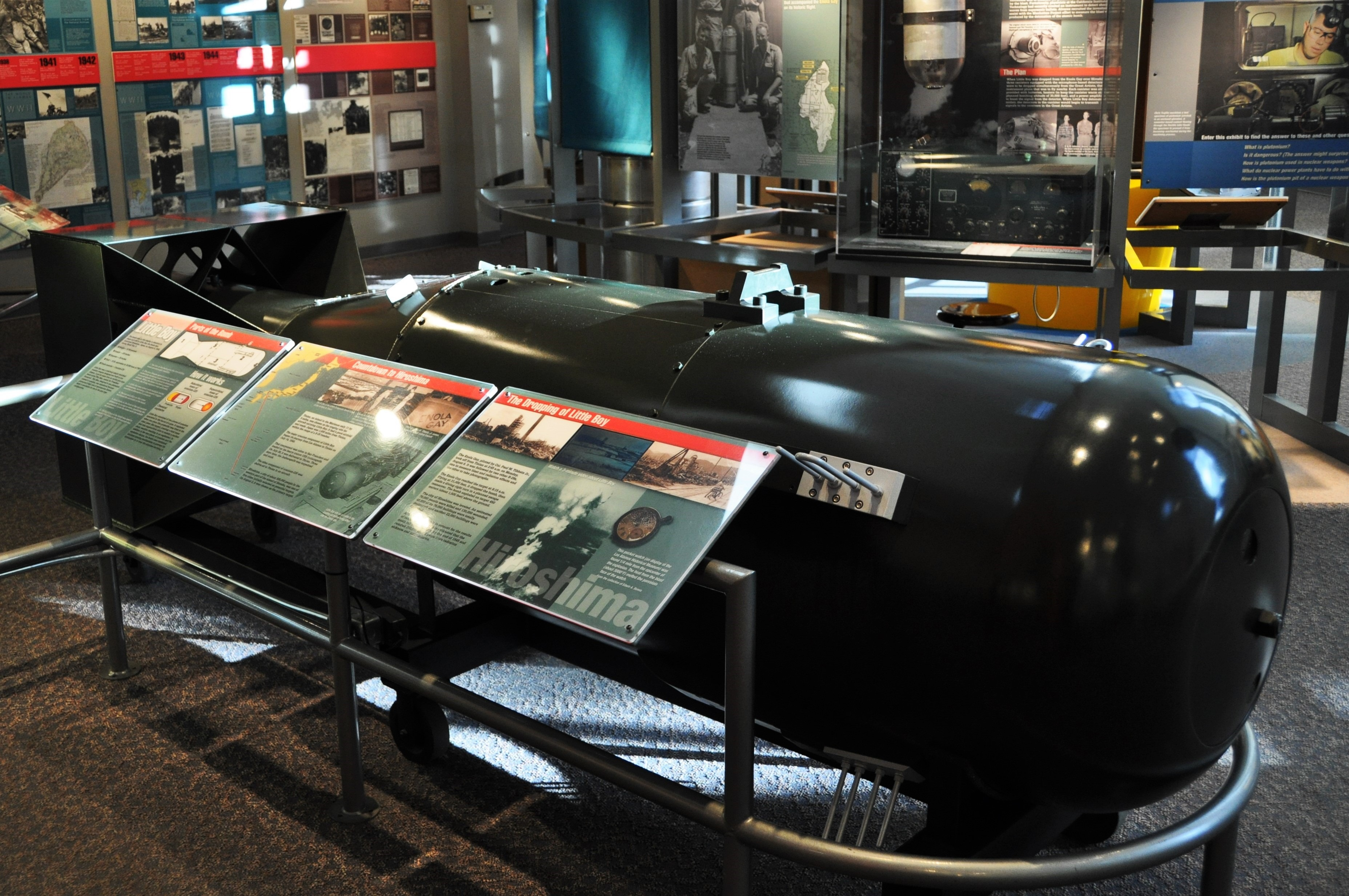 Replica of atom bomb Little Boy dropped on Hiroshima Aug 6 1945 - bruce witzel photo