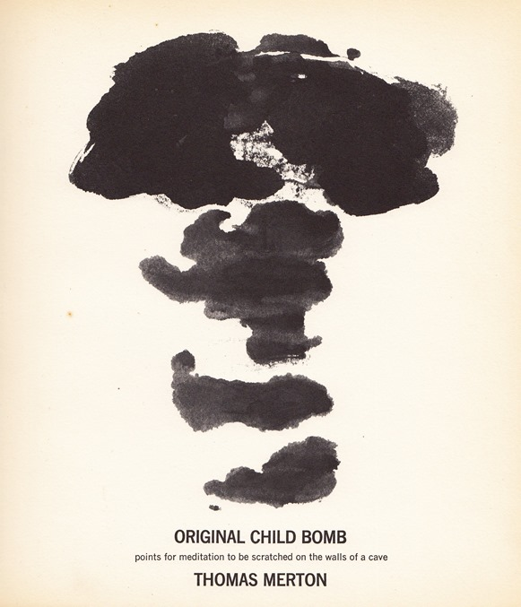 Calligraphy drawing of the Atomic Bomb by Thomas Merton