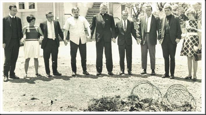 The Catonsville Nine burning draft files on May 17, 1968 - William La Force photo