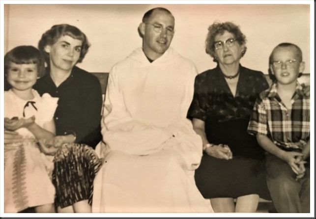 Ella (sister), Charles Brandt,  Anna (mother)  - at the Abbey of New Melleray 1959