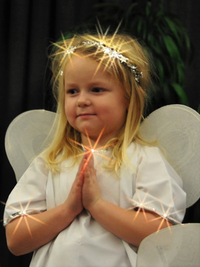 Britney as an angel - Christmas play 2015 - bruce witzel photo (2)
