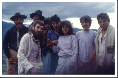 Mexican campesino catechists in Oaxaca Mexico  1991 with Bruce Witzel, photographer