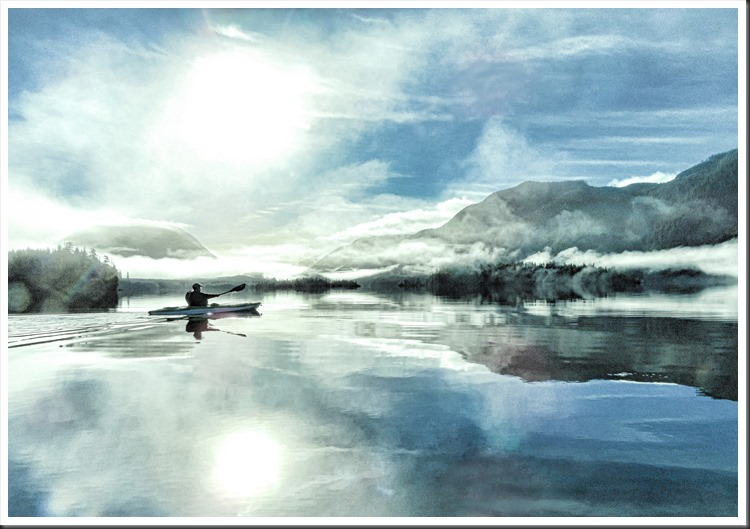 Francis kayaking on Victoria Lake 2021-01-18 bruce witzel photo with best edit effects