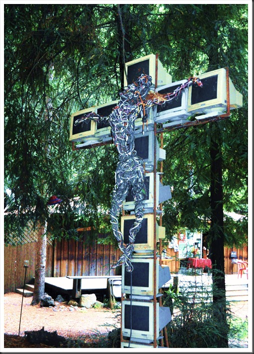 Media Crucified - Henry Miller Memorial Library, Big Sur - bruce witzel photo (3)