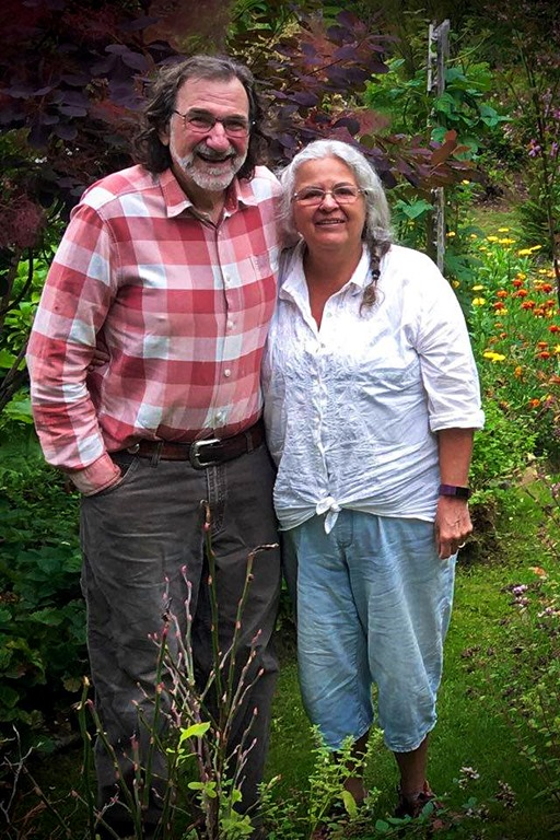 Francis and I in our garden, summer 2020 - Darrell McIntosh