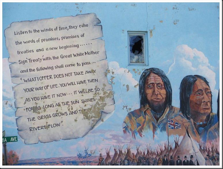 Broken Treaty Mural at Duck Lake, Saskatchewan